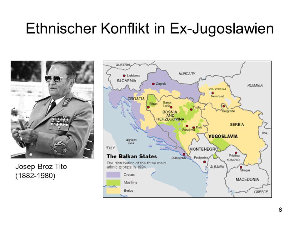 Ethnischer Konflikt in Ex-Jugoslawien