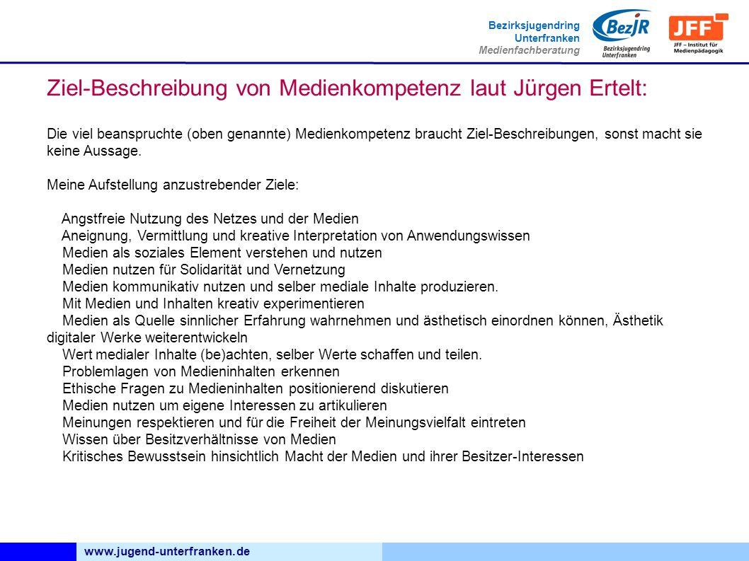 Ziel-Beschreibung von Medienkompetenz laut Jürgen Ertelt: