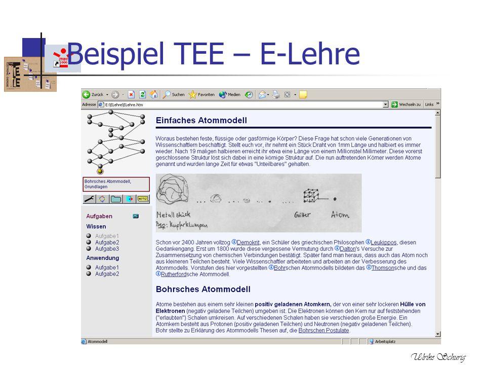 Beispiel TEE – E-Lehre Ulrike Schurig