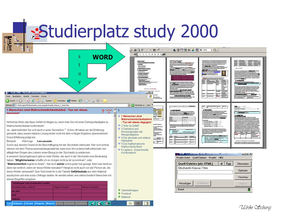 Studierplatz study 2000 s t u y WORD Ulrike Schurig