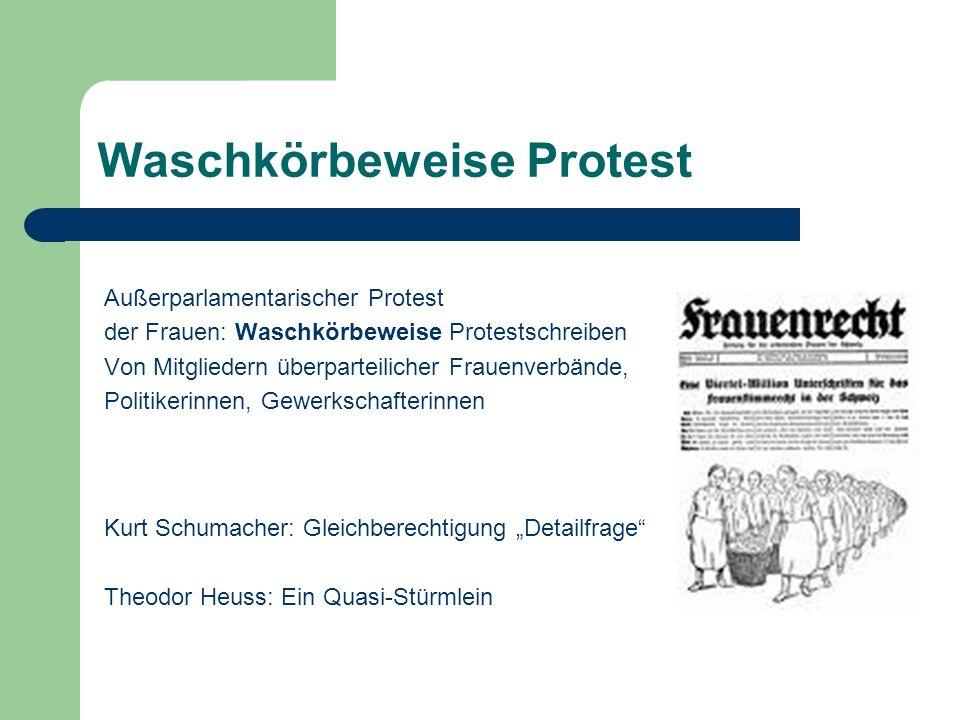 Waschkörbeweise Protest