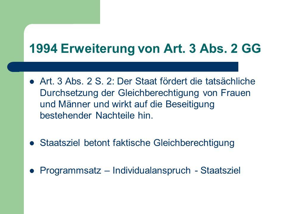 1994 Erweiterung von Art. 3 Abs. 2 GG