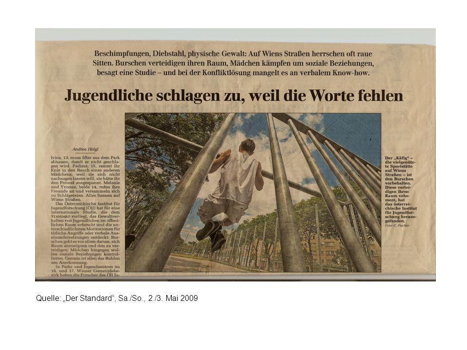 """Quelle: """"Der Standard , Sa./So., 2./3. Mai 2009"""