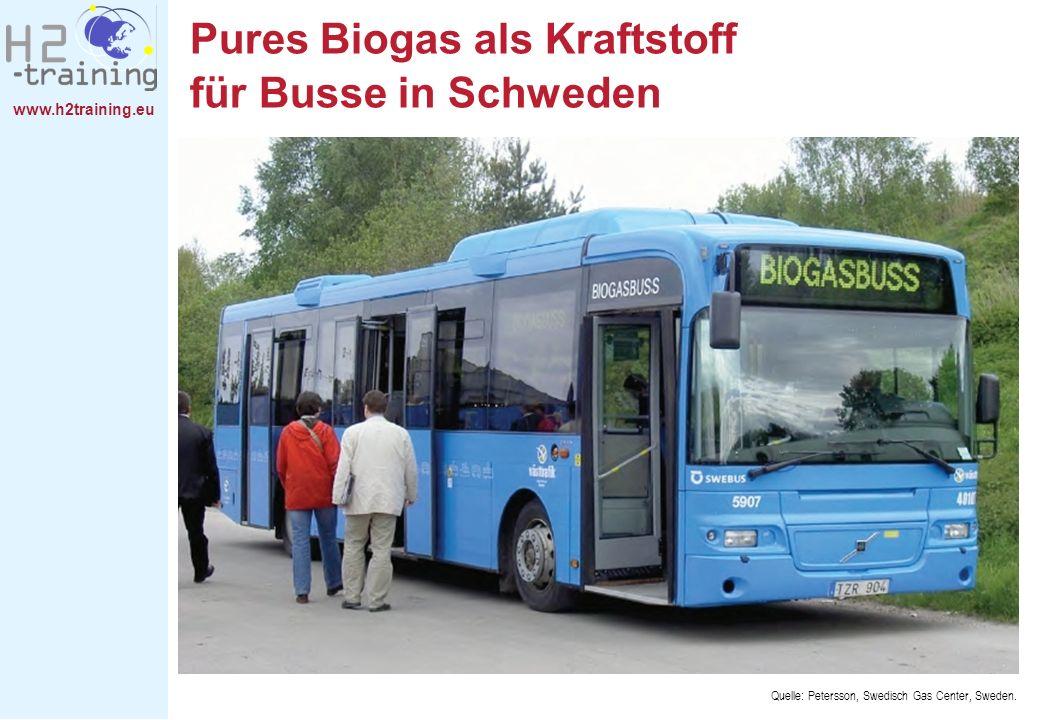 Pures Biogas als Kraftstoff für Busse in Schweden