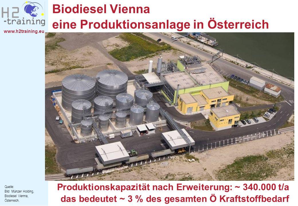 Biodiesel Vienna eine Produktionsanlage in Österreich