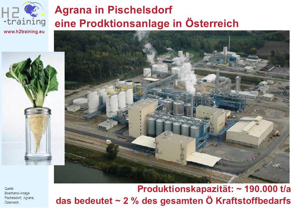 Agrana in Pischelsdorf eine Prodktionsanlage in Österreich