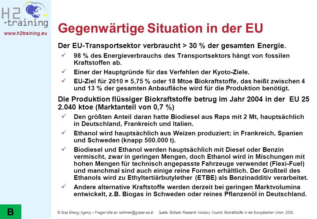 Gegenwärtige Situation in der EU