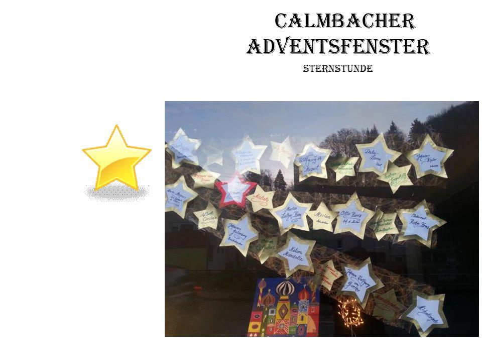 Calmbacher Adventsfenster