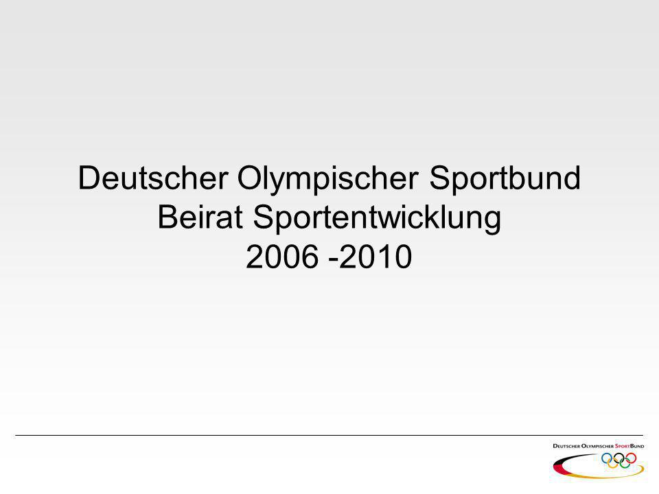 Deutscher Olympischer Sportbund Beirat Sportentwicklung 2006 -2010