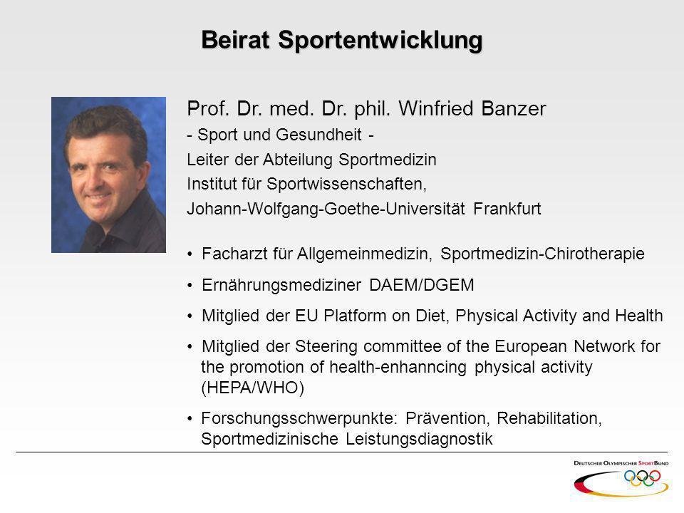 Beirat Sportentwicklung
