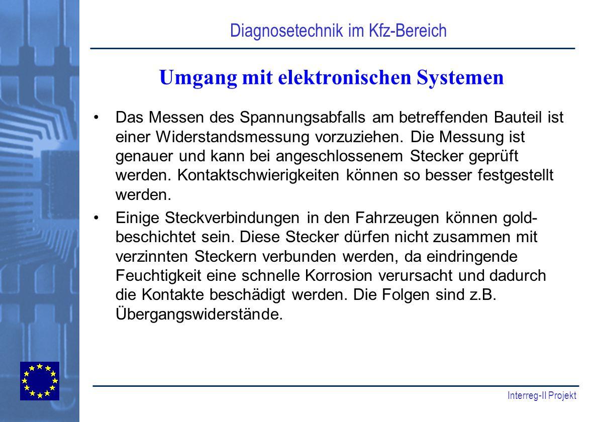 Umgang mit elektronischen Systemen