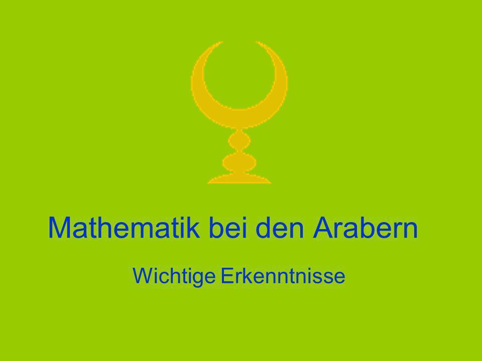 Mathematik bei den Arabern