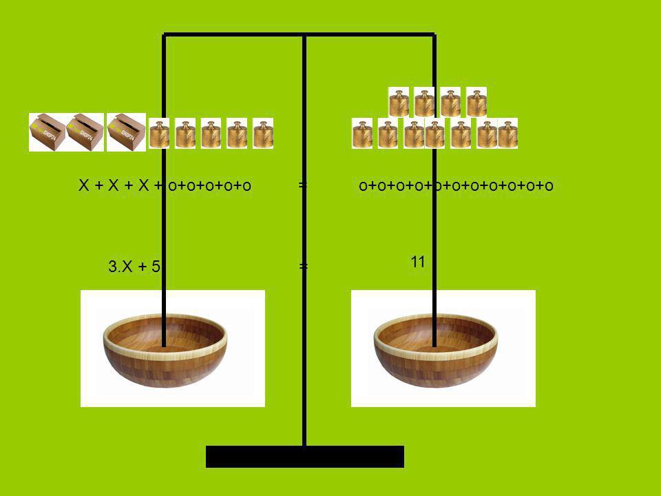 X + X + X + o+o+o+o+o = o+o+o+o+o+o+o+o+o+o+o