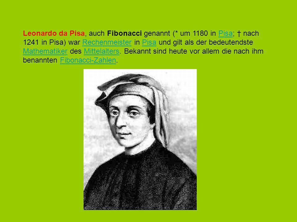 Leonardo da Pisa, auch Fibonacci genannt (