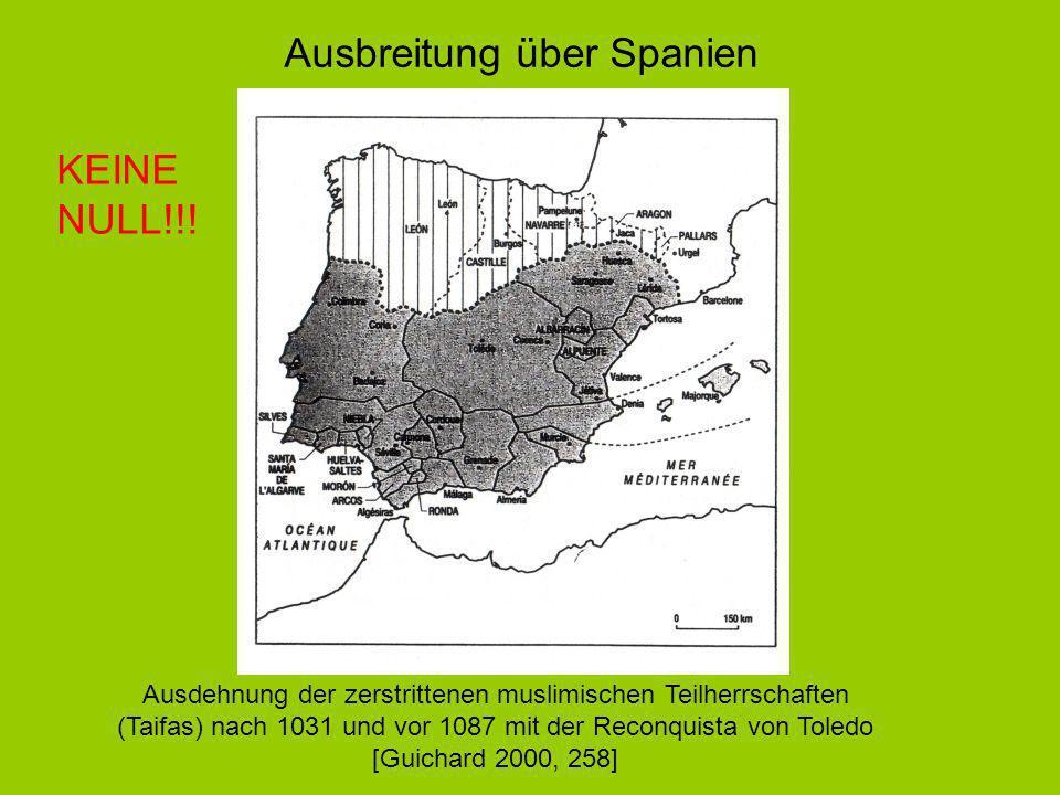 Ausbreitung über Spanien