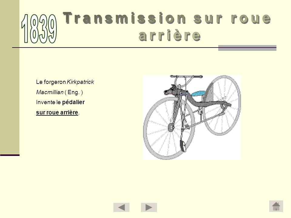 1839 Transmission sur roue arrière Le forgeron Kirkpatrick