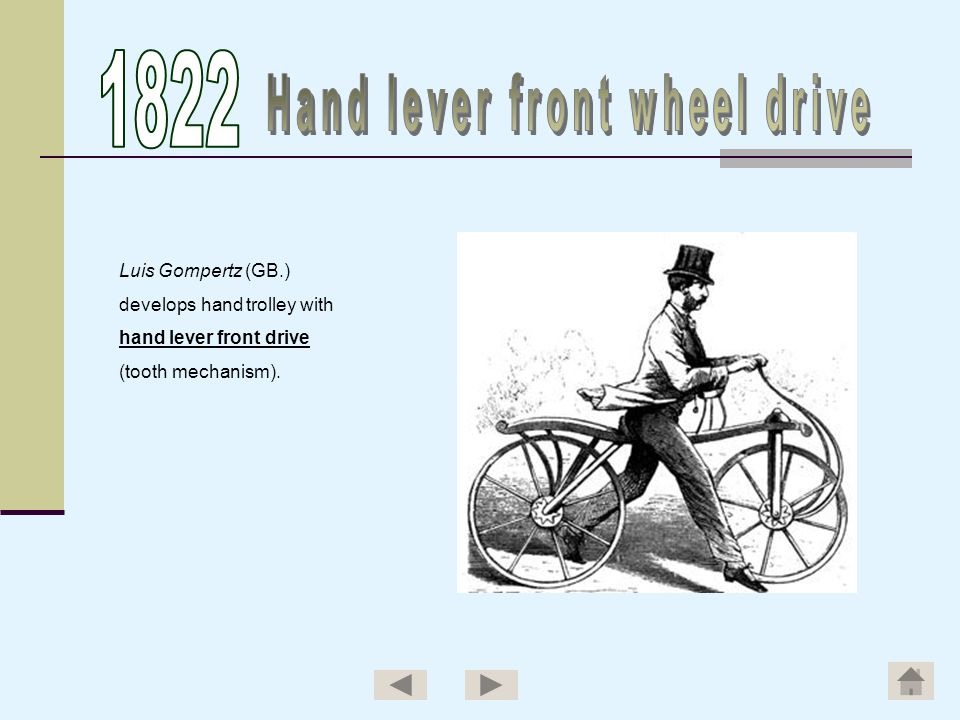 Hand lever front wheel drive