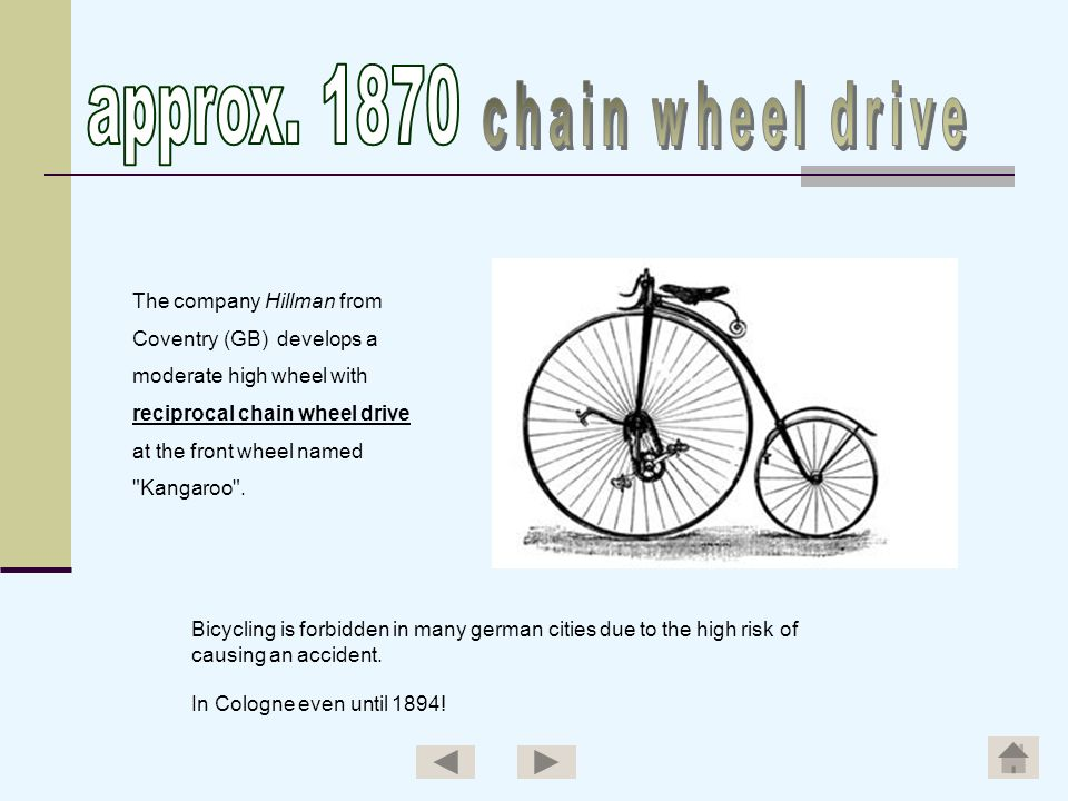 approx. 1870 chain wheel drive The company Hillman from