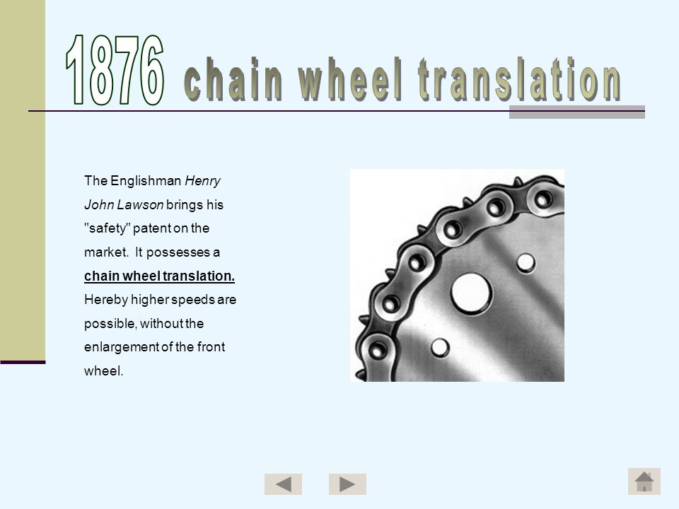 chain wheel translation
