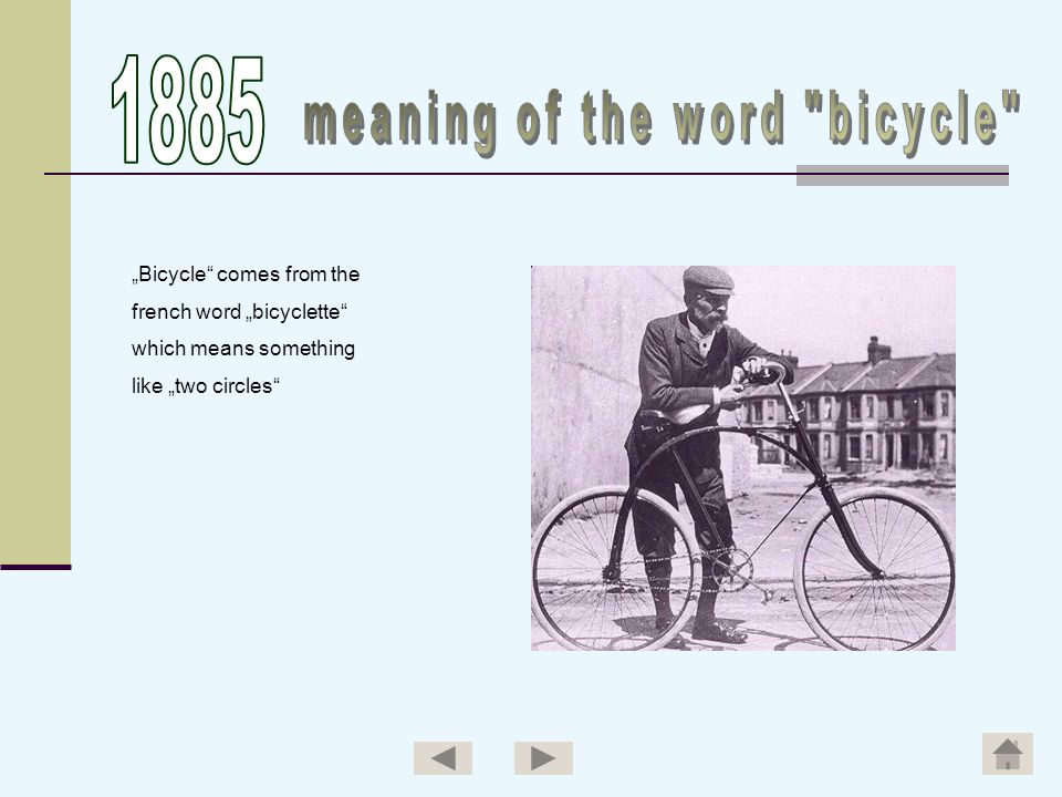 meaning of the word bicycle