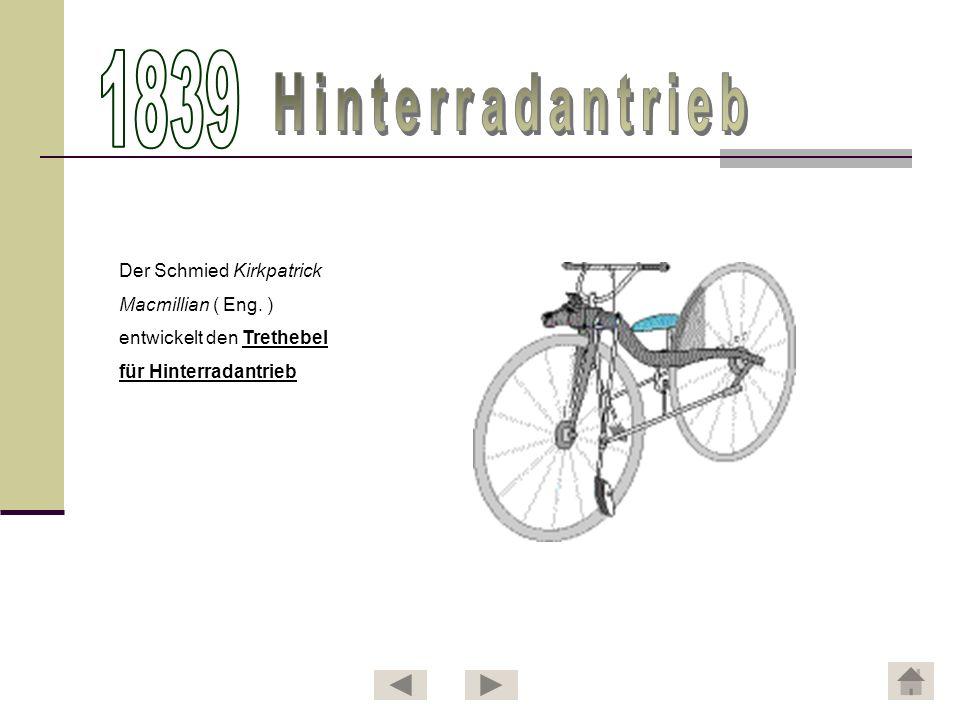 1839 Hinterradantrieb Der Schmied Kirkpatrick Macmillian ( Eng. )