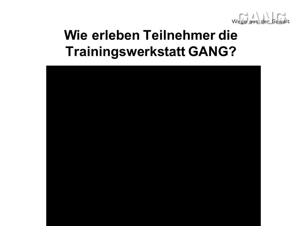 Wie erleben Teilnehmer die Trainingswerkstatt GANG