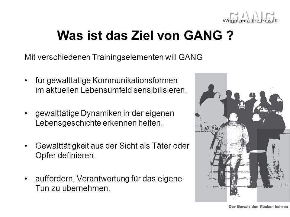 Was ist das Ziel von GANG