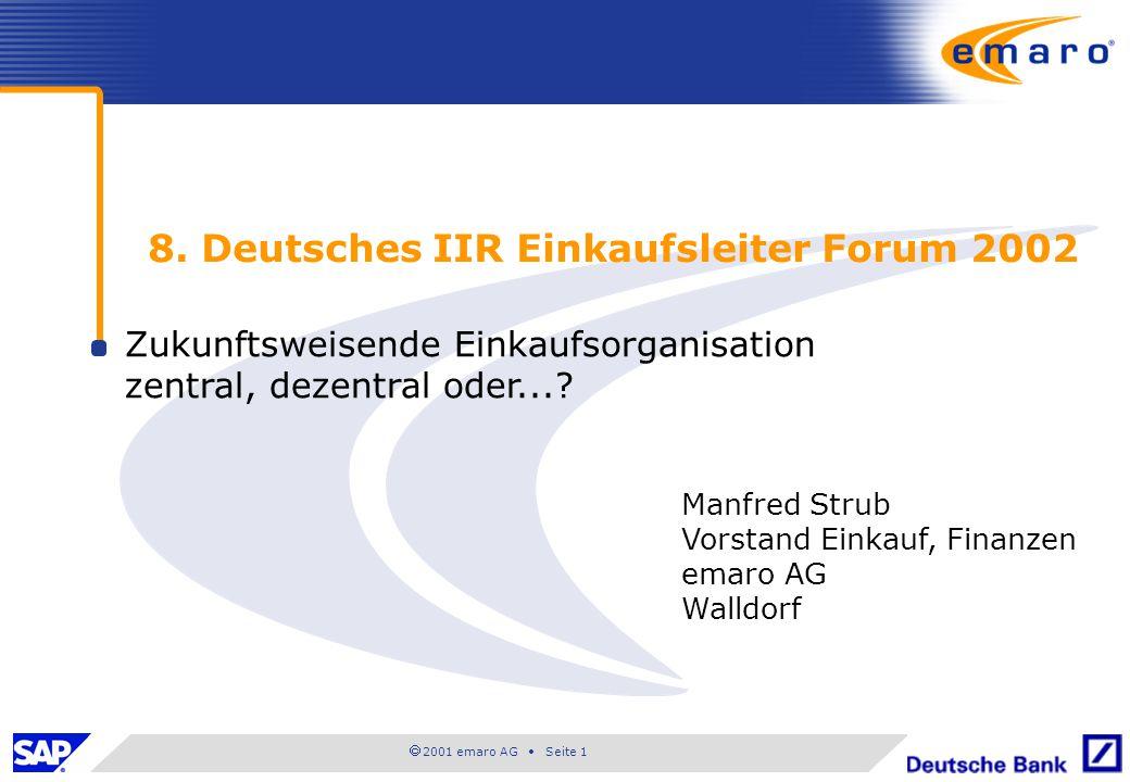 8. Deutsches IIR Einkaufsleiter Forum 2002