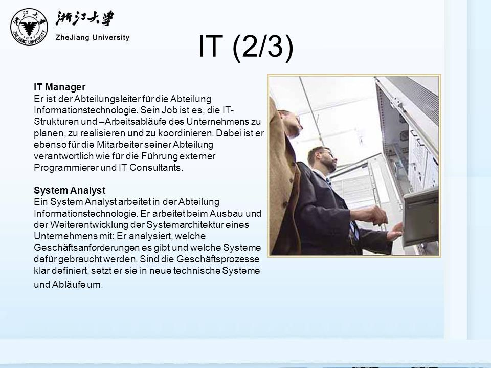 IT (2/3) IT Manager.