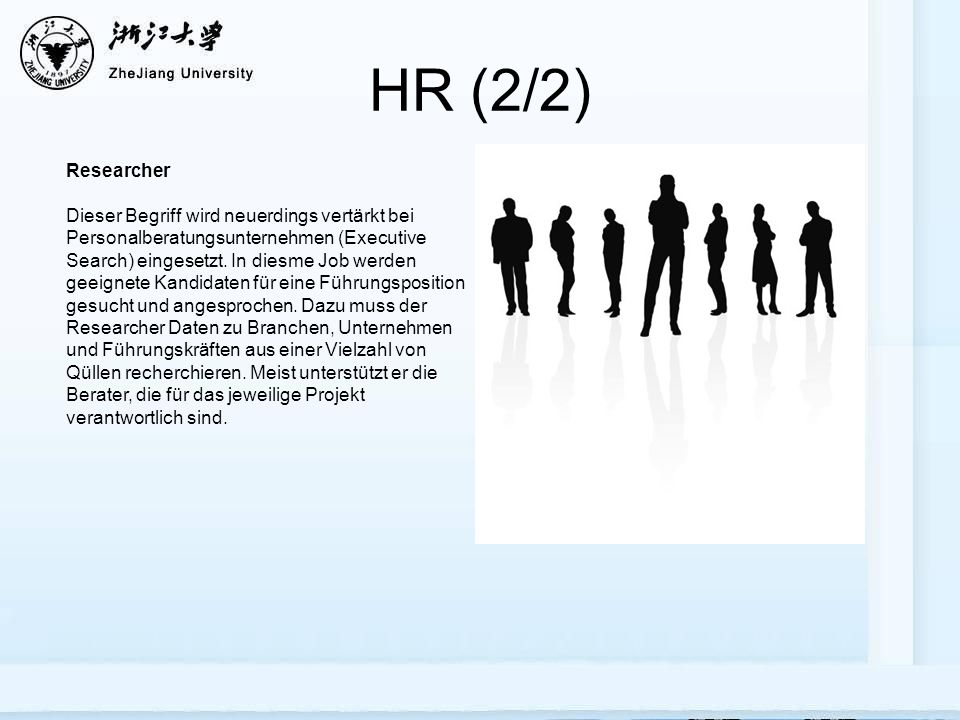 HR (2/2) Researcher.