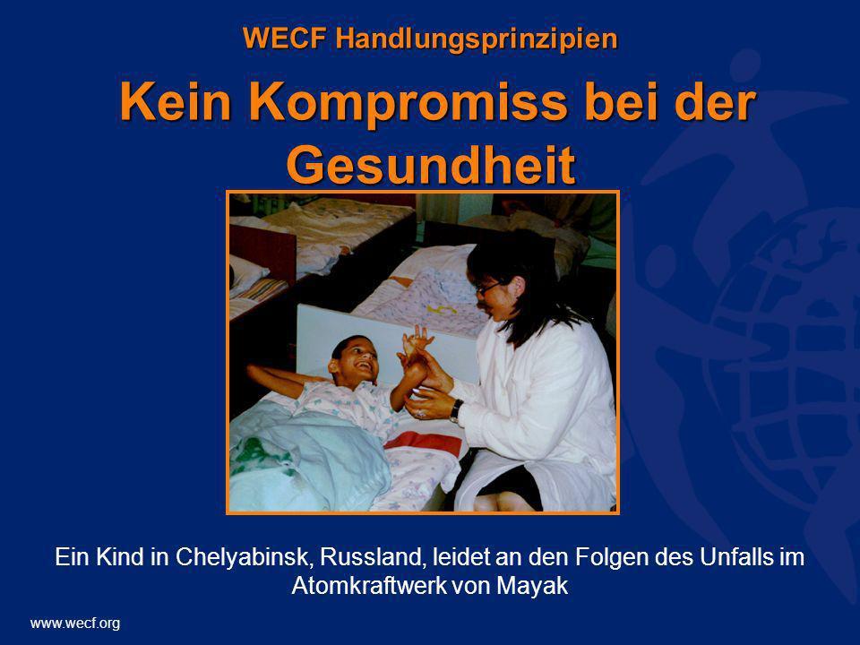 WECF Handlungsprinzipien Kein Kompromiss bei der Gesundheit