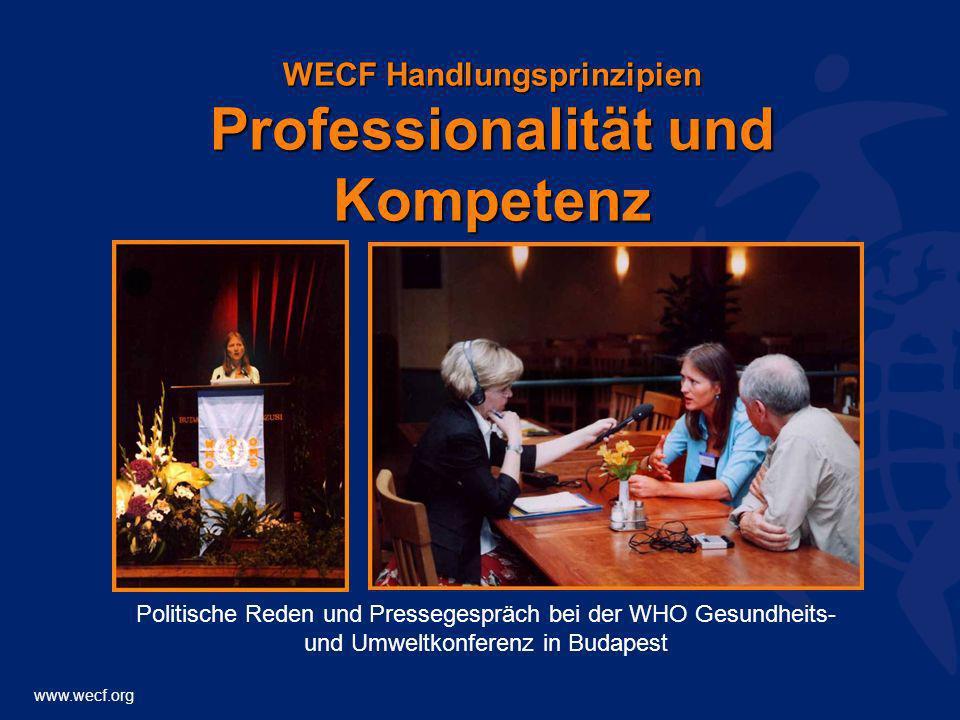 WECF Handlungsprinzipien Professionalität und Kompetenz