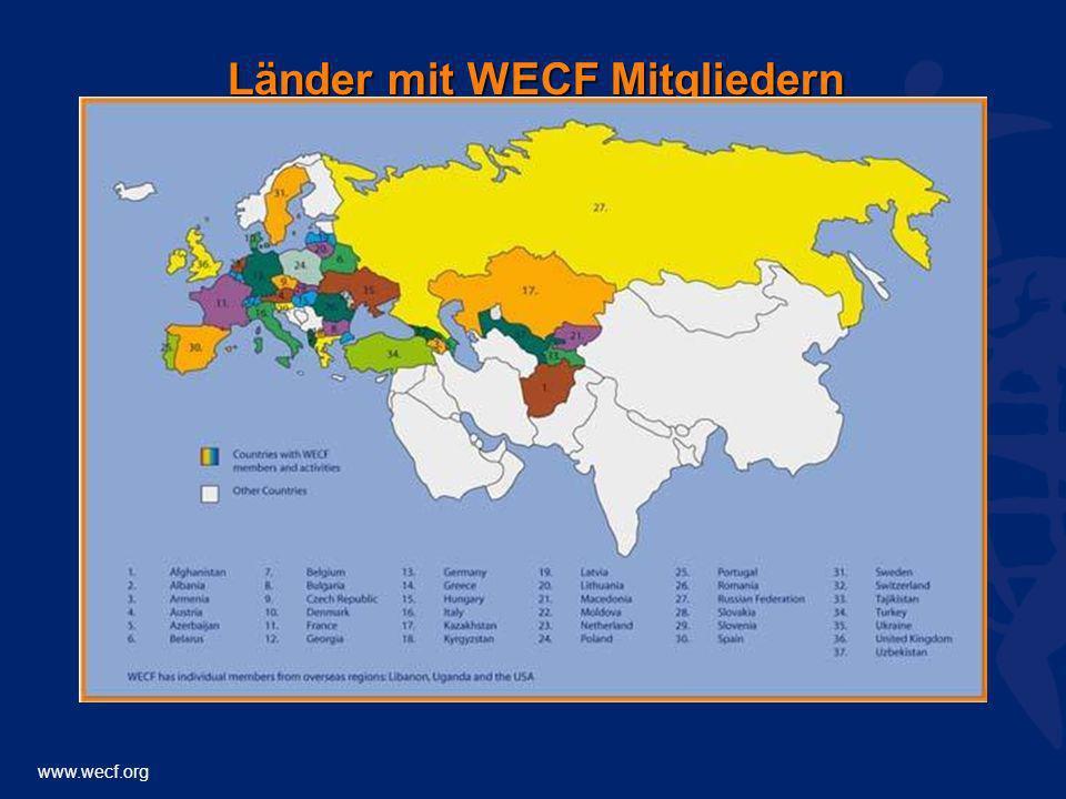 Länder mit WECF Mitgliedern