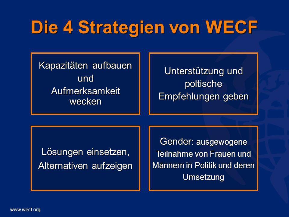 Die 4 Strategien von WECF
