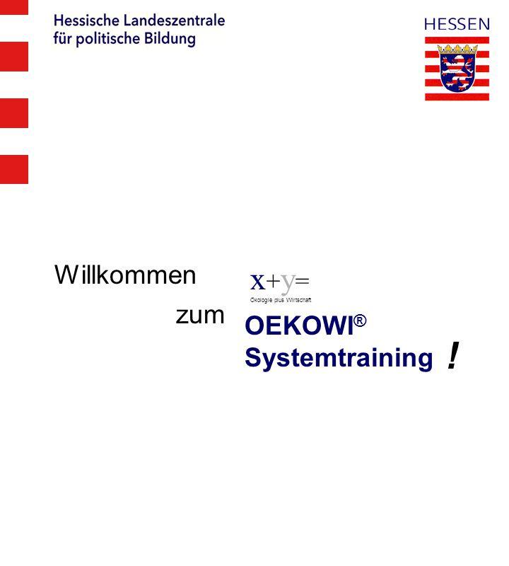 Willkommen x+y= Ökologie plus Wirtschaft zum OEKOWI® Systemtraining !