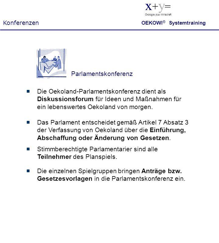 x+y= Parlamentskonferenz
