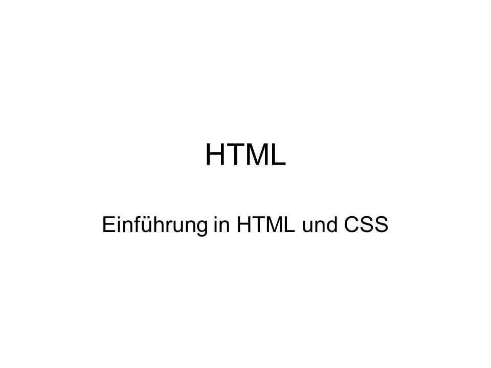 Einführung in HTML und CSS