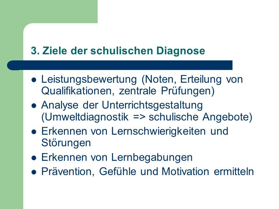 3. Ziele der schulischen Diagnose