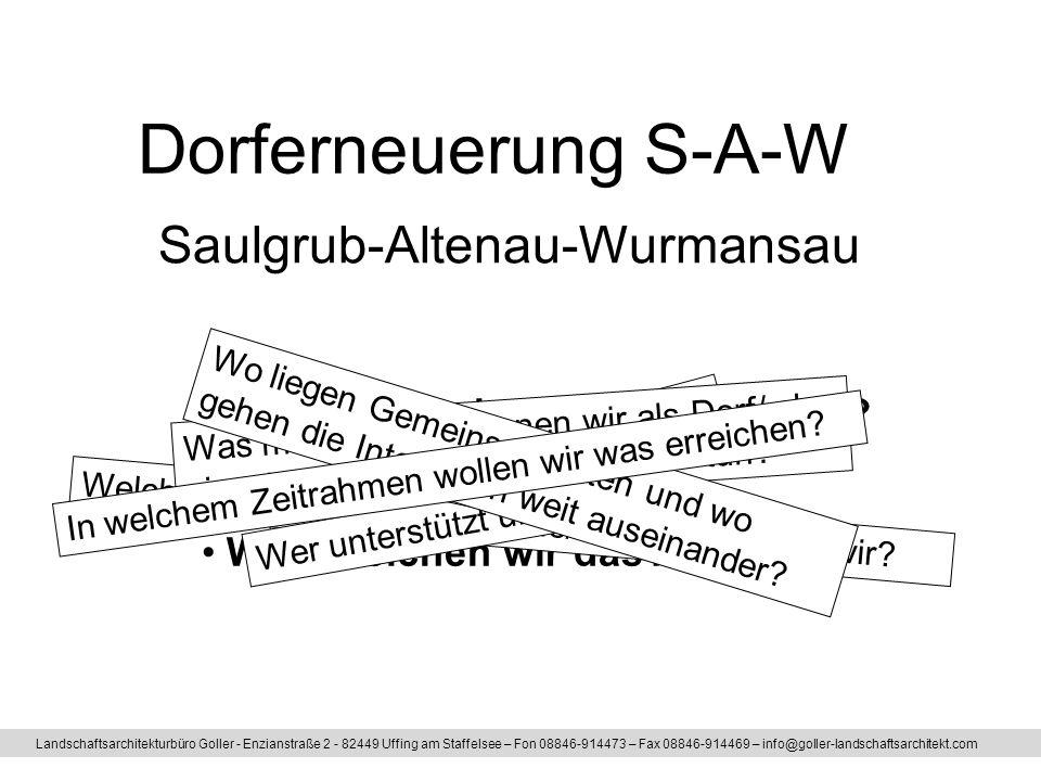 Dorferneuerung S-A-W Saulgrub-Altenau-Wurmansau
