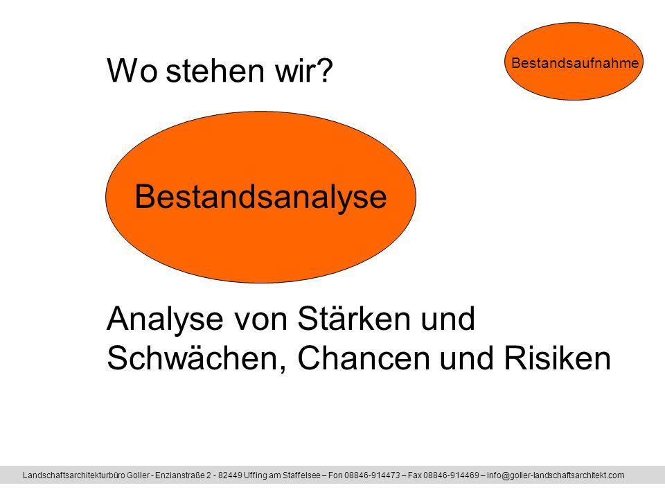Analyse von Stärken und Schwächen, Chancen und Risiken