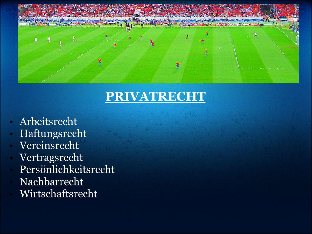 PRIVATRECHT Arbeitsrecht Haftungsrecht Vereinsrecht Vertragsrecht