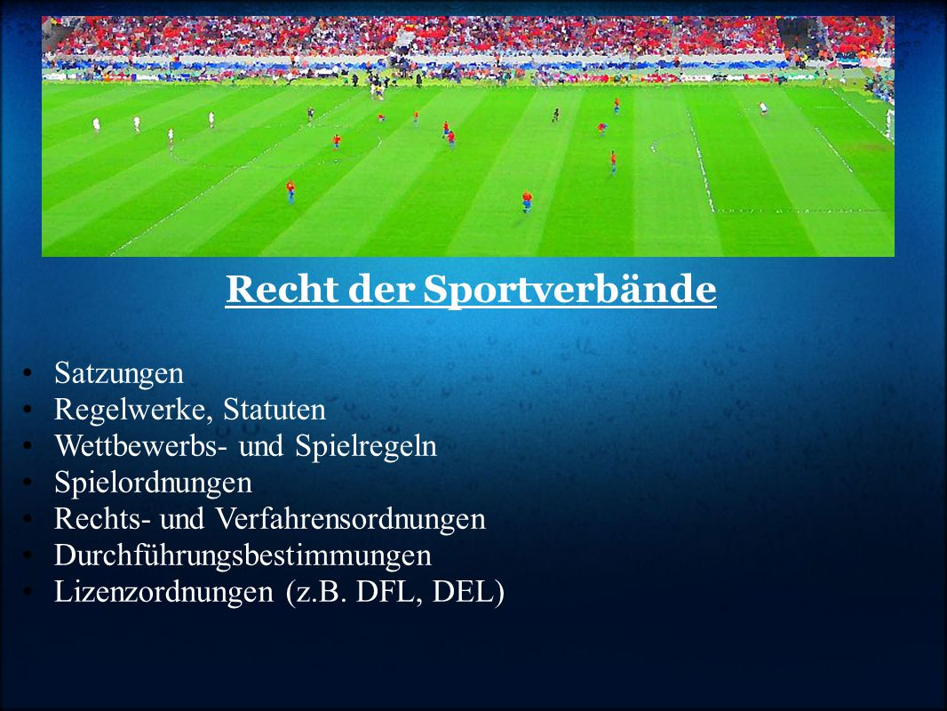 Recht der Sportverbände