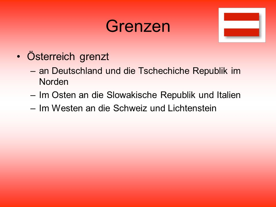 Grenzen Österreich grenzt