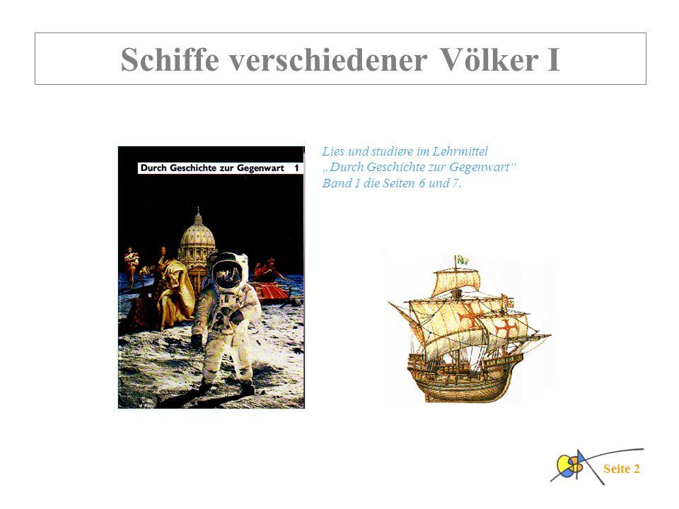 Schiffe verschiedener Völker I