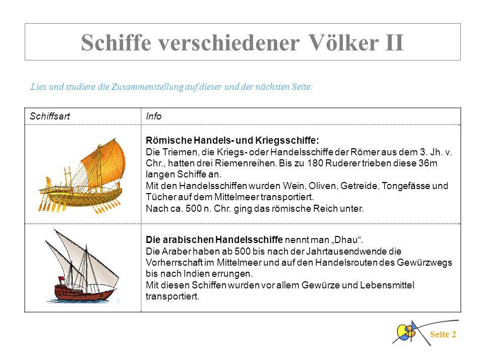 Schiffe verschiedener Völker II