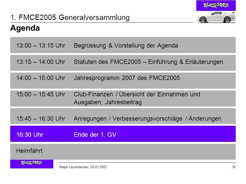 Agenda 13:00 – 13:15 Uhr Begrüssung & Vorstellung der Agenda