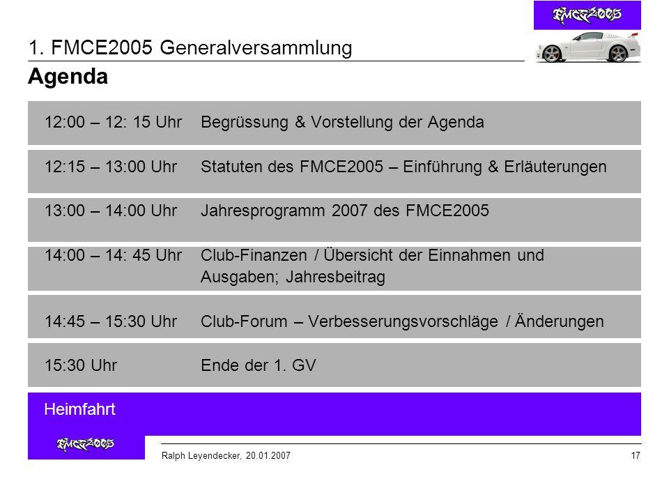 Agenda 12:00 – 12: 15 Uhr Begrüssung & Vorstellung der Agenda