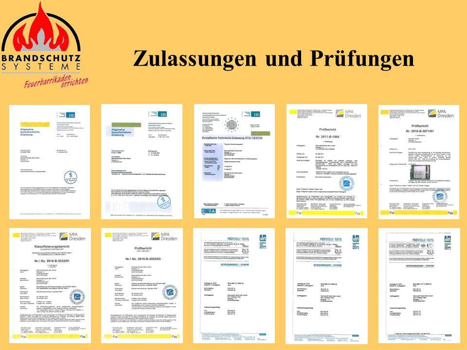 Zulassungen und Prüfungen
