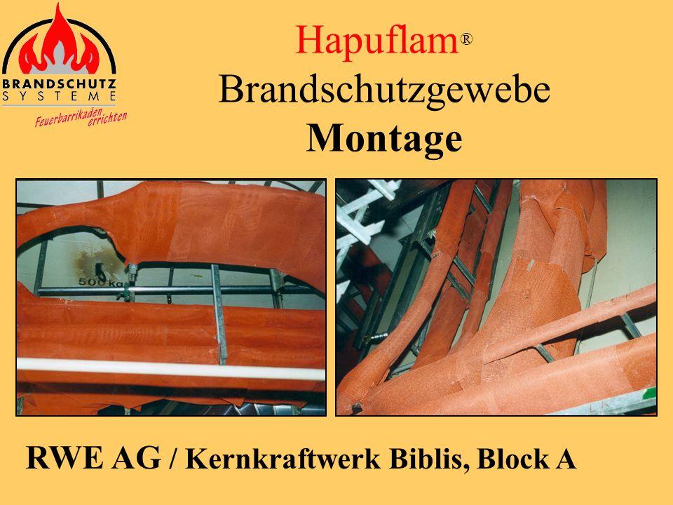 Hapuflam® Brandschutzgewebe Montage