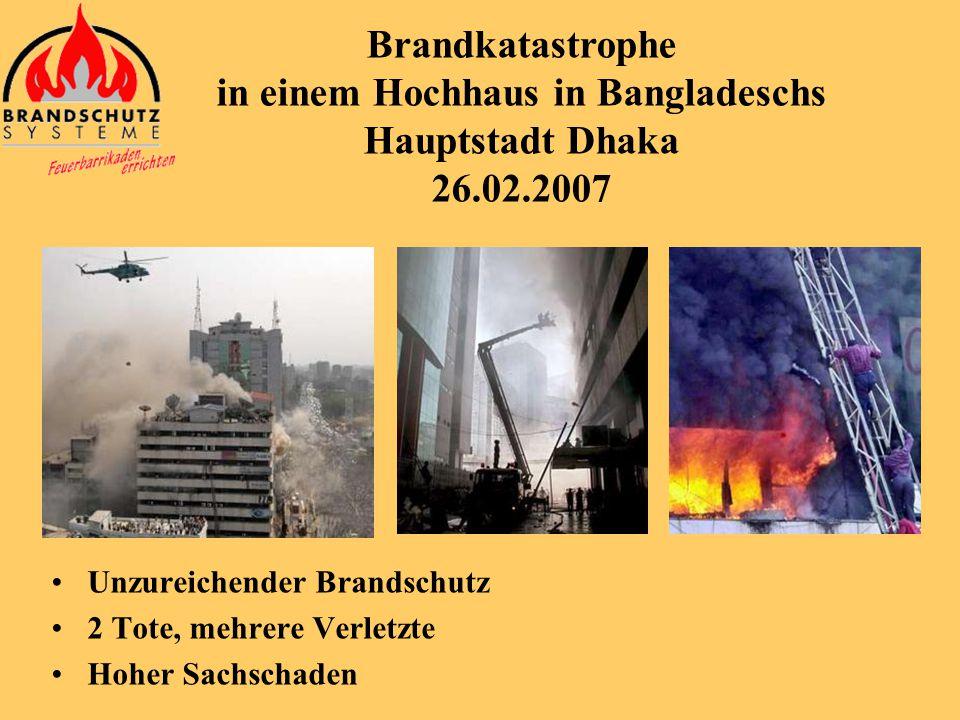 Brandkatastrophe in einem Hochhaus in Bangladeschs Hauptstadt Dhaka